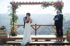 Married in THE MEADOW at The Mountain Winery in Saratoga, CA / Photo Credit LISA WHALEN PHOTOGRAPHY   / Gown by Ju.Lee Collection / Flowers Lani Elizabeth / Altar Rewined Designs