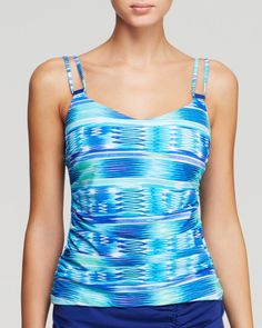 Profile by Gottex Ocean Underwire D Cup Tankini Top