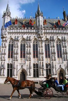 BELGIUM.....  Bruges, Provincial Palace, Market Square - This neo-gothic building now is the residence of the governor of West Flanders. It is not an old building, dating just form the end of the 19th century.