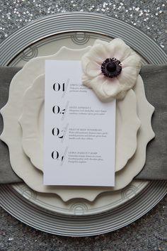 Menu, table setting