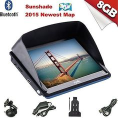 cool 2015 7 Inch SAT NAV Car GPS Navigation 8GB Bluetooth Navigator with Sunshade - For Sale View more at http://shipperscentral.com/wp/product/2015-7-inch-sat-nav-car-gps-navigation-8gb-bluetooth-navigator-with-sunshade-for-sale/