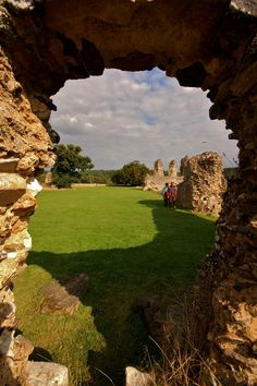 The ruins of Waverley Abbey, Farnham, Surrey, England. Waverley was the first Cistercian Abbey in England, founded in 1128 by William Giffard, Bishop of Winchester