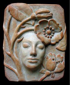 rose concrete plaque - Home and Garden Design Idea's