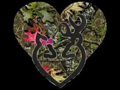 Browning deer with a camo heart