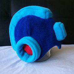 Mega Man Full Helmet Fleece  All Sizes  Color by GamePunkArts, $59.86