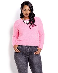 Must-have cropped long sleeve sweater! Pair with jeans and a longer shirt. 21 inch length. Warm and practical!
