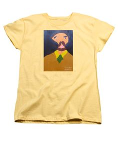 Patrick Francis Women's Banana Designer T-Shirt featuring the painting Portrait Of Eugene Boch 2015 - After Vincent Van Gogh by Patrick Francis