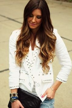 brown ombre pinterest - Google Search || dear mom. PLEASE let me get this in my hair?