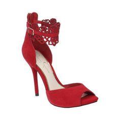 10611fd61d1 Women s Jessica Simpson Bonney High Heel Lipstick Peep Toe Heels