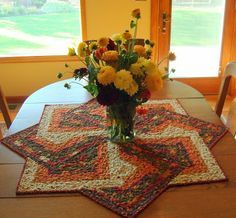 Spinning Star Table Topper pattern from Quilting Digest