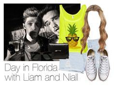 """""""REQUESTED: Day in Florida with Liam and Niall"""" by style-with-one-direction ❤ liked on Polyvore featuring MANGO, Converse, Mackage, Ray-Ban, OneDirection, LiamPayne, 1d, NiallHoran and liam payne one direction niall horan 1d"""