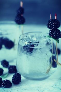 Brombeer--Salbei Gin Tonic