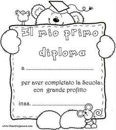 Diplomi e attestati Border Design, Outline, Coloring Books, Crafts For Kids, Kindergarten, Graduation, Education, School, Dragon Ball
