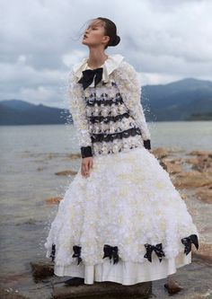 Seo Yoo Jin Wears 'Chanel Couture' Flashed By Tim Wong For Glass Magazine  http://www.anneofcarversville.com/style-photos/2017/2/13/seo-yoo-jin-wears-chanel-couture-flashed-by-tim-wong-for-glass-magazine