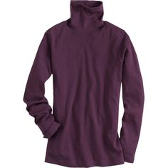 """Women's Longtail T® Turtleneck from Duluth Trading Company is shrink resistant, fade proof, and a full 2"""" longer than ordinary turtles to stay tucked."""