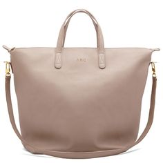 Summer 2015: Taupe Leather Tote (Cuyana Oversized Carryall Tote Sable)