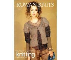 ROWAN Knitting Pattern Book, Vintage Pretty Designs, Lacy Cardigan, Shetland Shawl, Sequin Bag, Stripey Cushion, Throw etc...