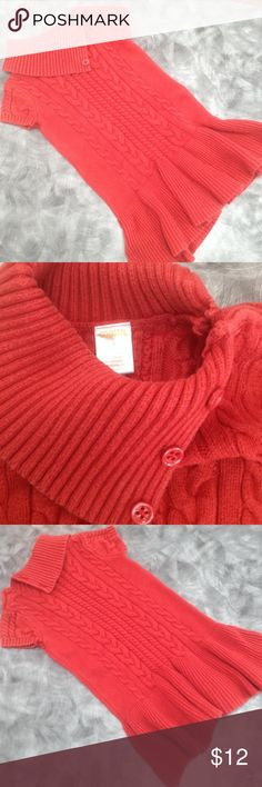 Gymboree Girls Sweater Dress Gently worn but in great shape.  Beautiful fall orange color.  No snags or stains! All buttons on collar are present.  I give a bundle discount as well! Gymboree Dresses Casual
