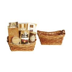 This beautiful basket makes the great base for any hostess gift, care package, or gift basket you can dream up! | Wald Imports Carved Willow Basket