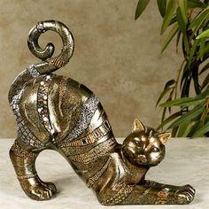Fabulous Feline Cat Table Sculpture