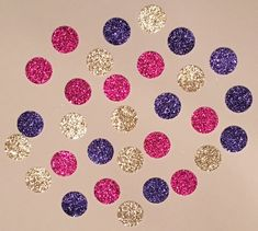 225 Purple Pink and Gold Confetti Glitter by JBPartyCreations