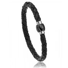 Men leather Verone black bracelets - Oxbow Trendy Bracelets, Black Bracelets, Bracelets For Men, Leather Men, Personalized Items, Jewelry, Knights, Bangle Bracelets, Man Bracelet