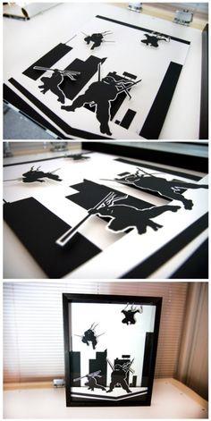 Teenage Mutant Ninja Turtles - 3D hand cut paper craft