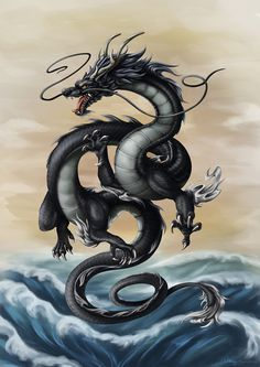 This is incredibly late, but as promised, here's a rendered dragon for the New Year! The dragon is my zodiac animal so I was all like \o/ doing this . Year of the Black Water Dragon 2012 Orca Tattoo, Hamsa Tattoo, Tiger Tattoo, Tattoo Ink, Fantasy Dragon, Fantasy Art, Dragon Chine, Chinese Dragon Tattoos, Chinese Dragon Drawing