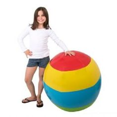 Giant Beach Ball Inflatable   40 Inch   Summer Toys