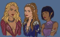 """evalescoart: """"A messy sketch of the Night Court ladies. It took forever to get them to look even close to how I imagine, but I think I'm satisfied for now. Hopefully I'll finish it later """""""