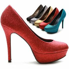 ollio Womens Shoes Platforms Glitter Stilettos High Heels Multi Colored  From shoecafe24 on eBay