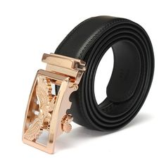 Men's Eagle Pattern Second Floor Cowhide Leather Belt Automatic Buckle Business Strap Cowhide Leather, Leather Men, Fashion Belts, Mens Fashion, Belt Online, Belt Buckles, Man Shop, Eagle, Second Floor
