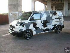 VW T4 urban camoflage