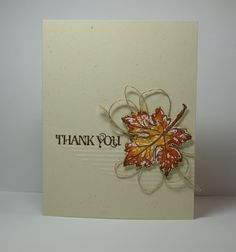 Add interest to thank you cards with linen thread loops.