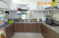Hình tủ bếp nhà anh Bình ở Thủ Đức
