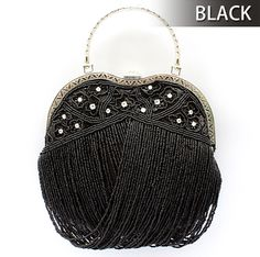 Toptie Novelty Apple Shape Beaded Purse Handbag - Wholesale