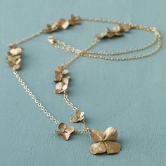 Terrain Scattered Hydrangea Necklace #shopterrain  This is cast from actual hydrangea blossoms.  Makes me thank of my Grandma.  It is beautiful.