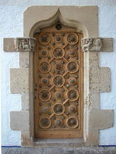 decorated door by miss Tempel Portal, Entrance Doors, Doorway, Grand Entrance, Gates, The Doors Of Perception, Knobs And Knockers, Cool Doors, Door Gate