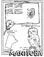 Canadian Province - Manitoba coloring page