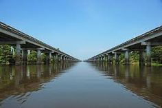 Atchafalaya Basin Bridge - 18 miles over a dangerous, deadly heaven of water and green life