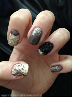 Caviar nails for the holidays. By Emily Hieronymus.