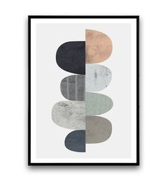 Abstract art Scandinavische print minimalistische door Wallzilla