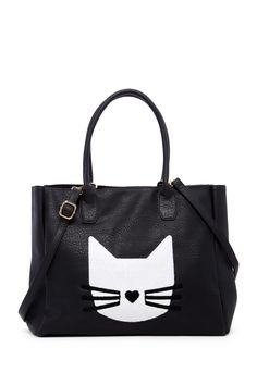 Pink Haley Kaitlyn Cat Tote