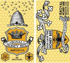 HomArt Large Decorative Royal Honey Bee Matches by HomArt. $6.83. Measures 4-1/2-inch length by 3/4-inch width by 2-1/4-inch height. Perfect accessory for lighting candles, cigarettes, cigars, grills and fireplaces. Beautiful ornately decorated matchbox with a vintage style royal honey bee theme. Made of cardboard. Strike plate for lighting; also make a great accompaniment gifts to candles. This exclusive collection of refined yet affordable home accessories is created for eve...