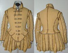 Yellow Gold Man's Elizabethan Costume