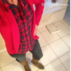 Red Plaid and Western Boots  Style Details Instagram:  EmilySarmo
