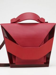 The Shop | NOT JUST A LABEL Layered Red Bag by Linda Sieto