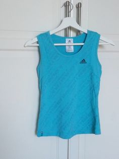 Top Adidas bleu T.36 25,00 € fitness sport sportswear femme women débardeur blue