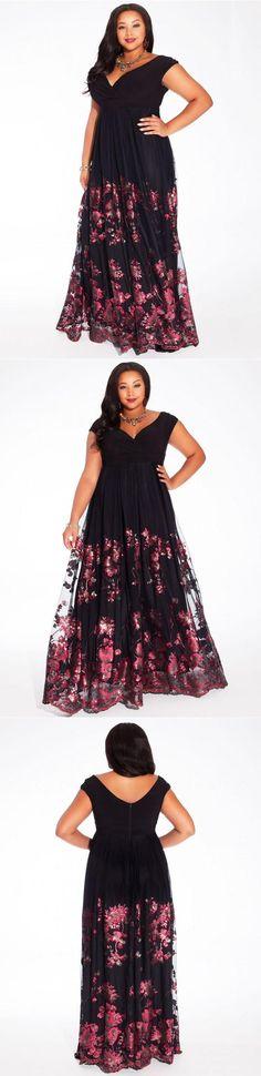 Curvalicious Clothes :: Plus Size Dresses :: Lakshmi Plus Size Gown in Merlot