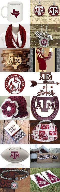 Desert Texas A&M Aggie Love Etsy Treasury by V. Dotter mydesertlove.com